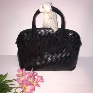 Vintage black woven leather bag GEM Brazil